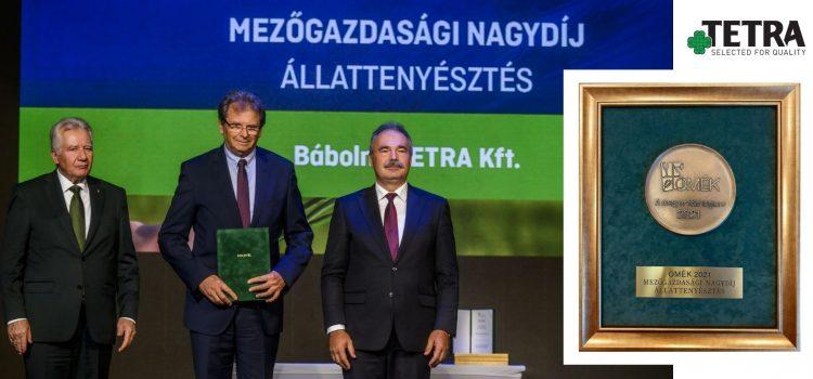 Bábolna TETRA S.L. ganó otro premio húngaro. Esta vez pudo recibir el Gran Premio Agrícola de Ganadería en la Exposición Nacional Agrícola y Alimentaria de este año.